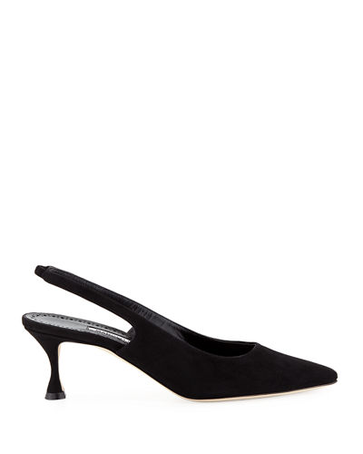 Betty Suede Slingback Pumps