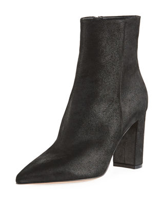 POINTY-TOE 85MM BLOCK-HEEL BOOTIE