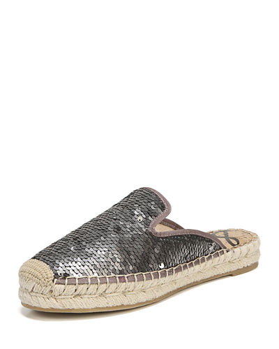 Kerry Metallic Sequins Espadrille Mule