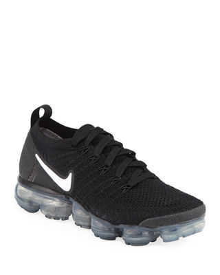 Women'S Air Vapormax Flyknit 2 Running Shoes, Black, Black/ White/ Grey/ Silver