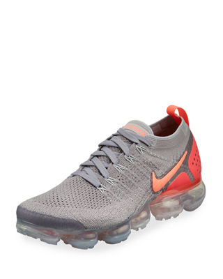 WOMEN'S AIR VAPORMAX FLYKNIT 2 RUNNING SHOES, GREY