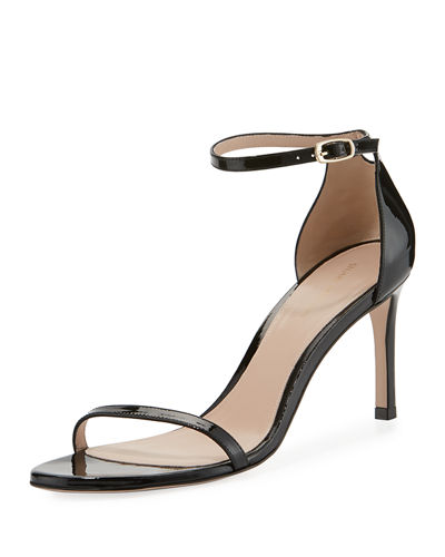 Stuart Weitzman 75NUDISTTRADITIONAL Gloss Naked Sandal and