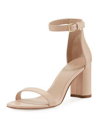 75Lessnudist Leather Ankle-Strap Sandals, Blush