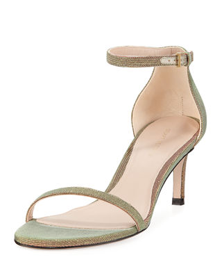Stuart Weitzman 45NUDIST Nighttime Naked Fabric Sandals