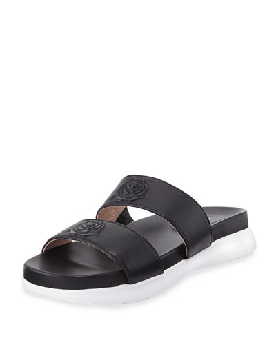 Ina 2-Band Leather Slide Sandal