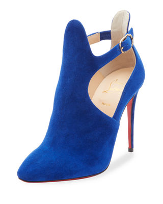 Christian Louboutin Canadada Suede Cutout Red Sole Bootie