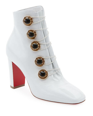9958933b6382 Christian Louboutin Lady See Patent Button Red Sole Bootie