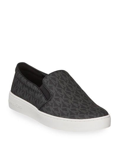 Keaton Logo-Print Slip-On Sneakers