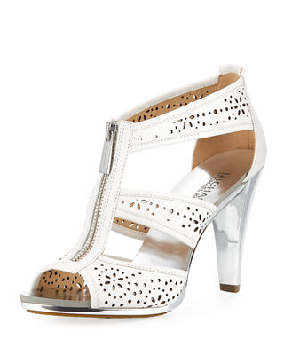 Berkley Perforated T-Strap Zip Sandal