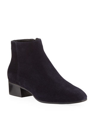 AQUATALIA Women'S Fuoco Pointed Toe Suede Booties in Navy