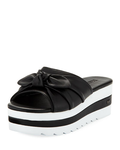 Pippa Platform Slide Sandal with Bow