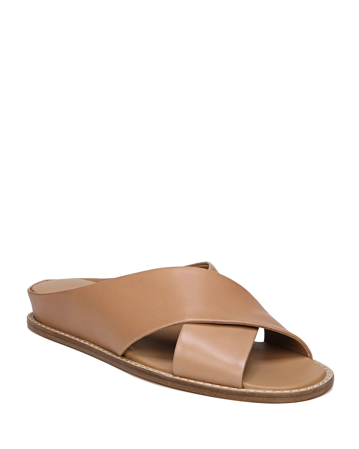 Vince Women's Fairley Leather Slide Sandals Free Shipping Inexpensive jeV2gNRfx