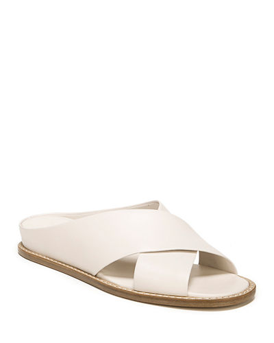 Fairley Leather Wedge Sandals