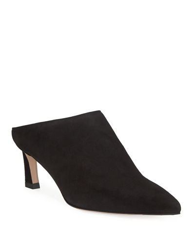 Mira Suede Pointed Mule Pump