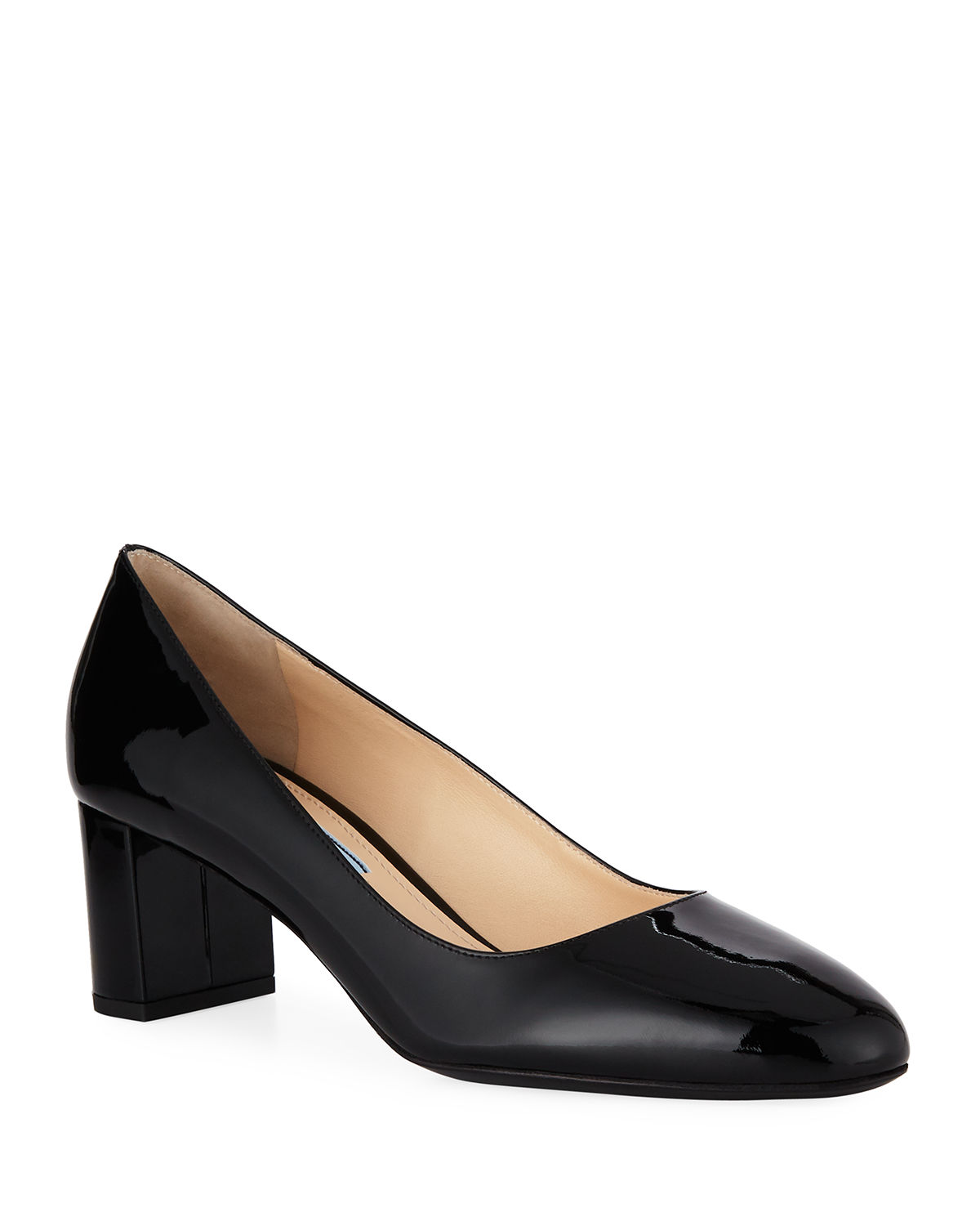 21799aa4d74 Prada Patent Leather Round-Toe 55mm Pump