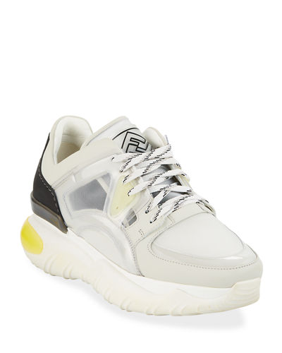 7381c0705ae Quick Look. Fendi · Leather and Mesh Trainer Sneakers