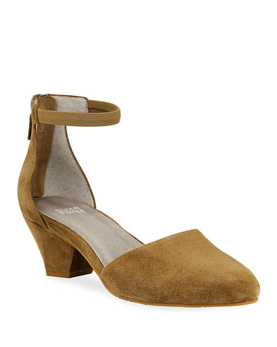 Just Suede Low-Heel Pump