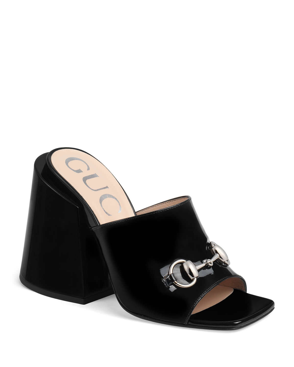 5f3a6b889ee3 Gucci Lexi 105mm Patent Leather Slide
