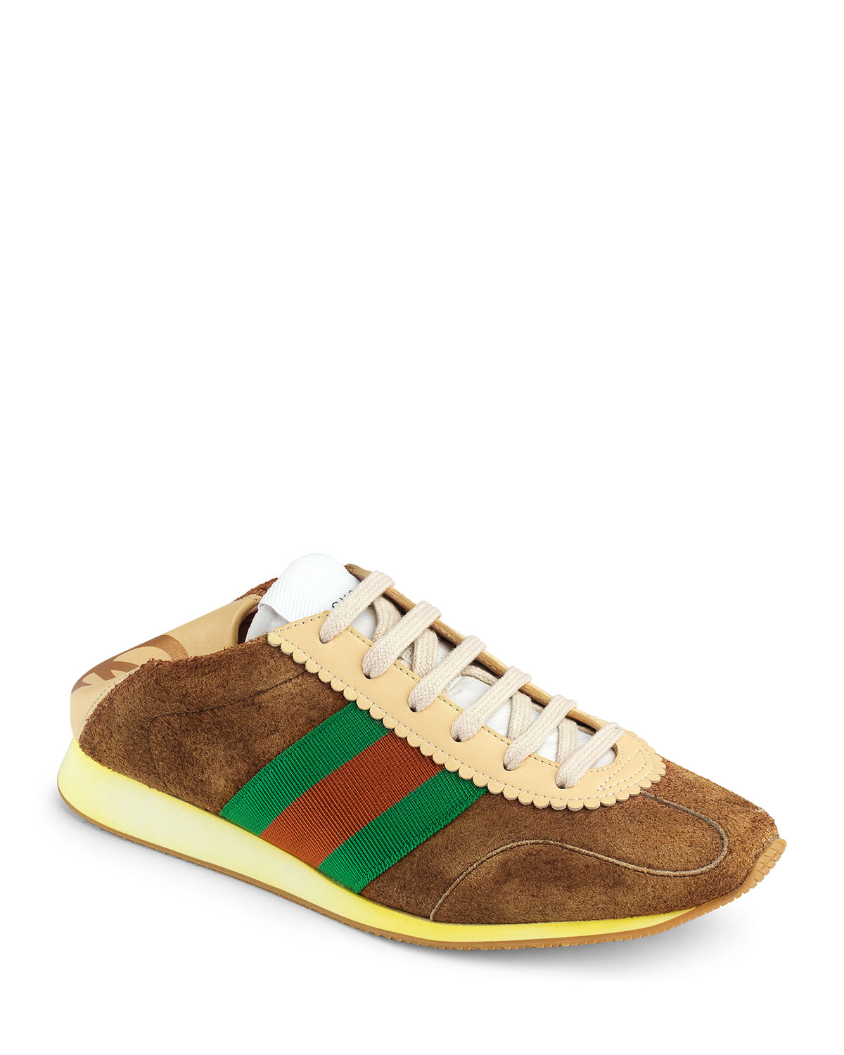 Lace-Up Suede Sneakers