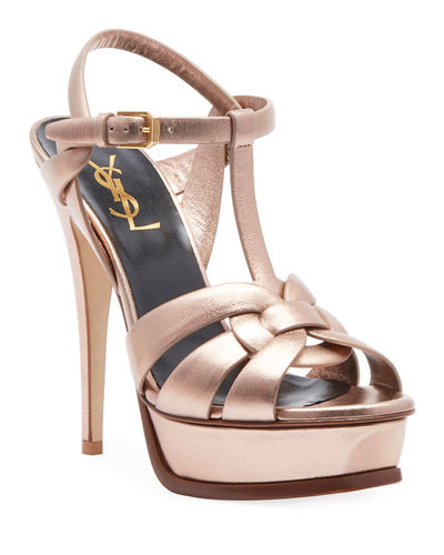 Tribute Metallic Leather Platform Sandal