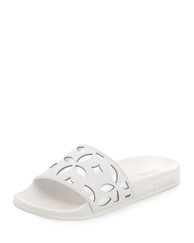Mimi Flower Cutout Pool Sandal