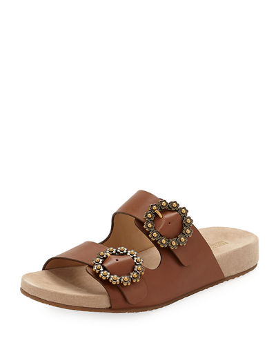 MICHAEL Michael Kors Ryder Leather Slide Sandal