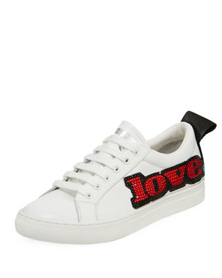 Marc Jacobs Love-Embellished Empire Low-Top Sneakers