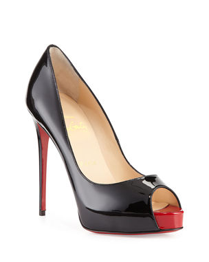 a0d4710c350c Christian Louboutin New Very Prive Patent Red Sole Pump
