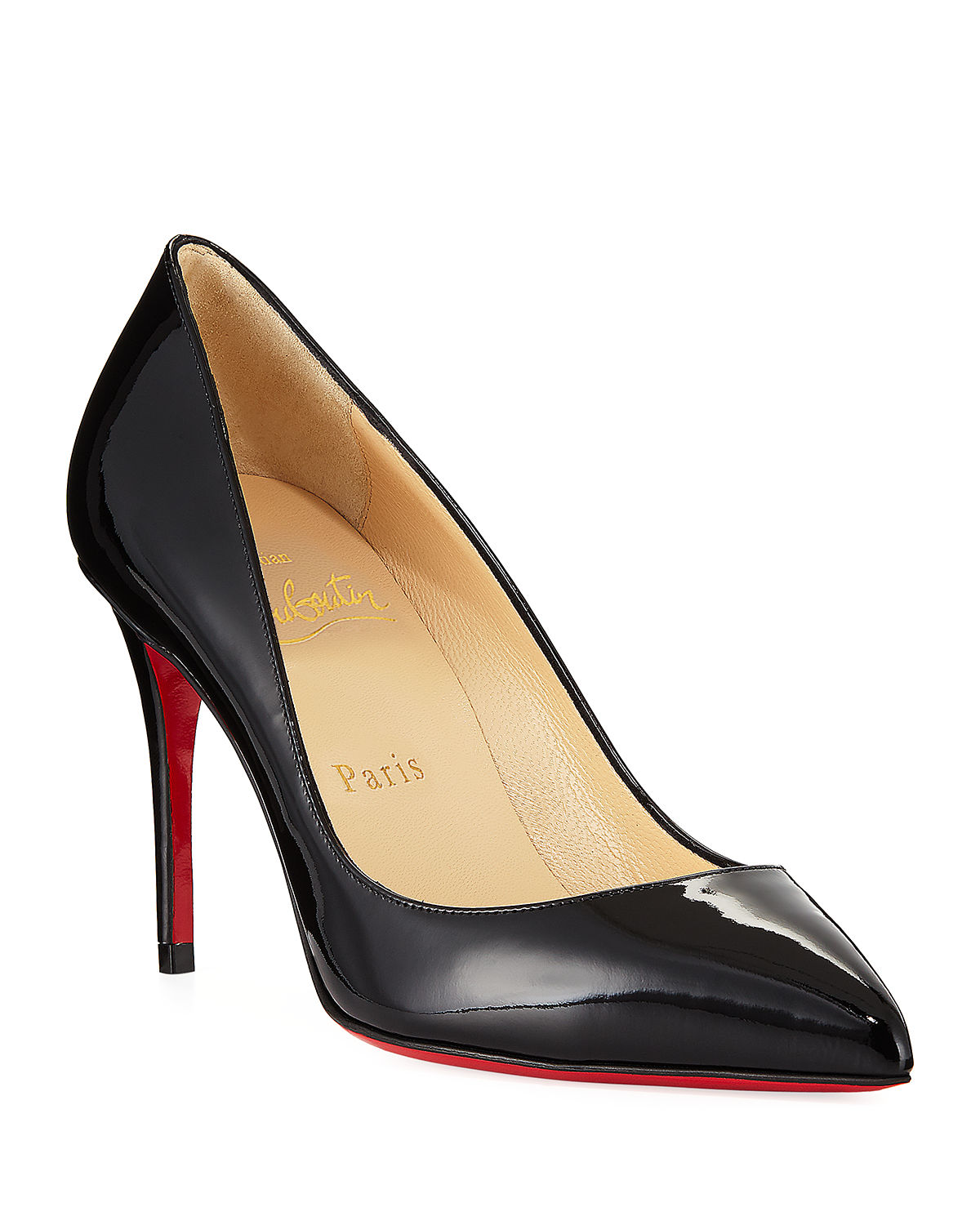 huge discount 395de 28776 Pigalle Follies 85mm Patent Red Sole Pump