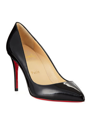 712533272 Christian Louboutin Pigalle Follies 85mm Patent Red Sole Pump