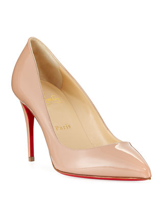 Pigalle Follies 85 Patent-leather Pumps - Black Christian Louboutin