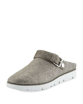 GENTLE SOULS By Kenneth Cole Esther Convertible Wedge in Light Pewter Metallic Leather