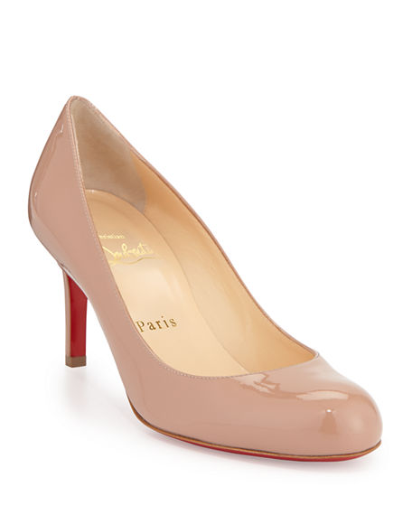 4fd0a1fa918 Simple Patent Red Sole Pump