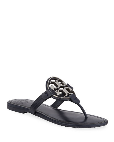 Miller Flat Metal Logo Slide Sandals