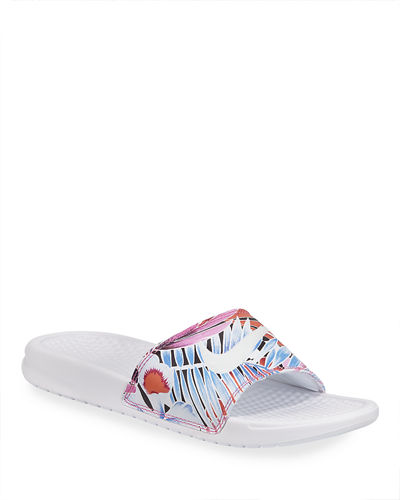 Benassi Just Do It Flat Slide Sandals