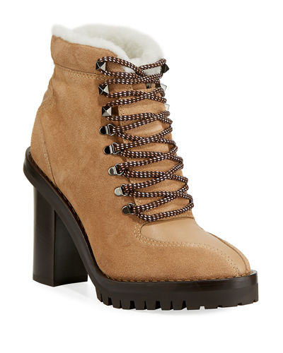 Trekking Fur-Lined Platform Hiker Ankle Boot