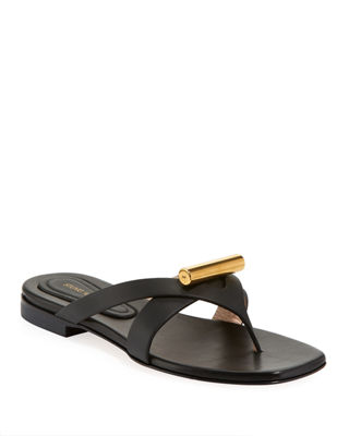 Stuart Weitzman Leather Slide Sandals