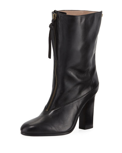Jett Slouchy Leather Zip Bootie