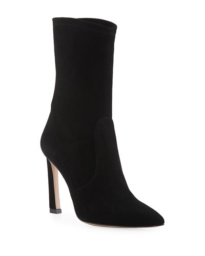 Rapture 100mm Suede Sock Bootie