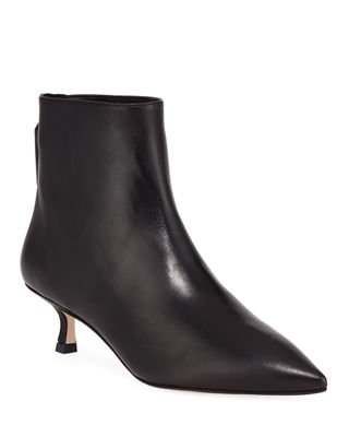 Women'S Juiper 70 Leather Pointed Toe Booties in Oyster