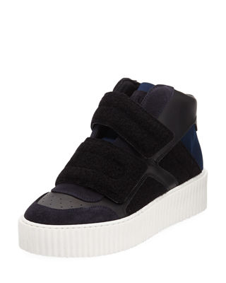 MM6 Maison Martin Margiela Colorblock Platform High-Top Sneakers