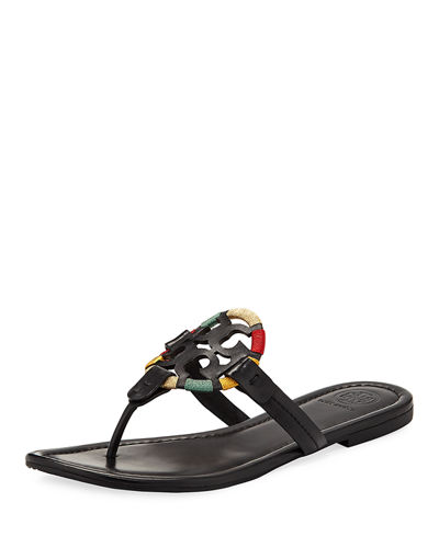 8a8ce7626b691 Tory Burch Miller Flat Embroidered Medallion Sandal from Neiman ...