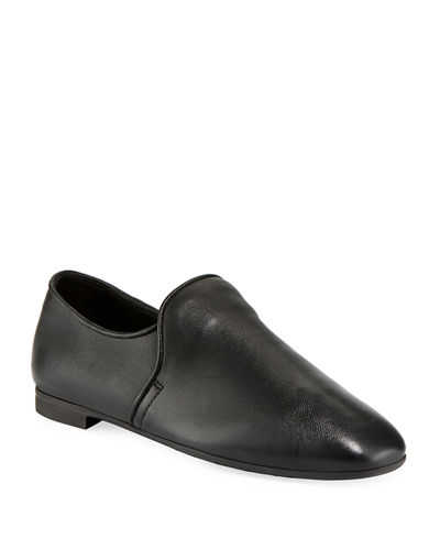 Revy Flat Leather Loafers