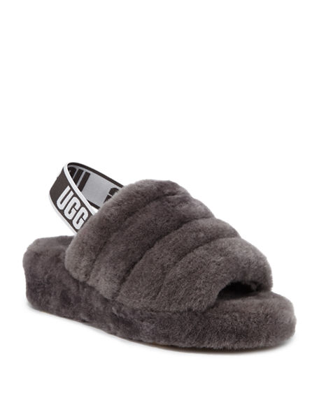 Image 1 of 5: UGG Fluff Yeah Shearling Sandal Slippers