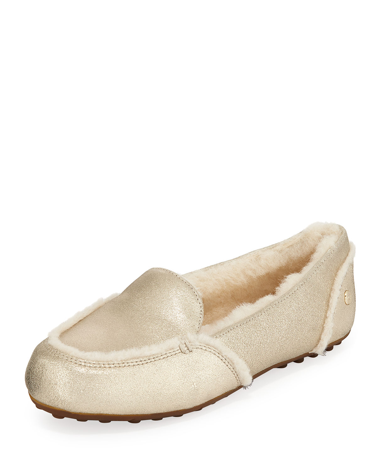 Hailey Metallic Fur-Lined Indoor/Outdoor Slippers