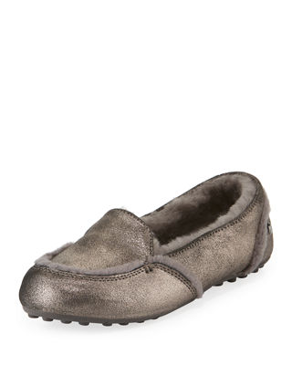 UGG Australia Hailey Metallic Fur-Lined Indoor/Outdoor Slippers