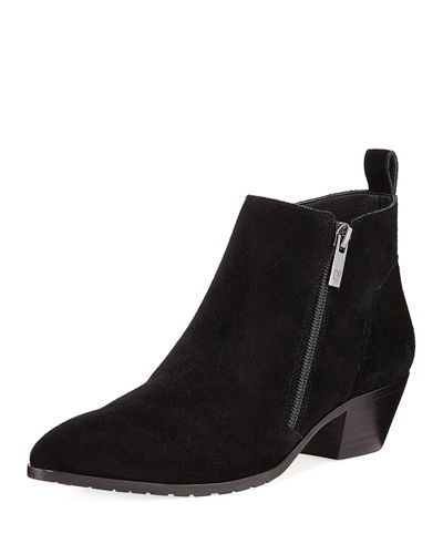 Dixie Pointed-Toe Suede Booties