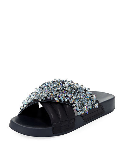 Logan Embellished Pool Sandal