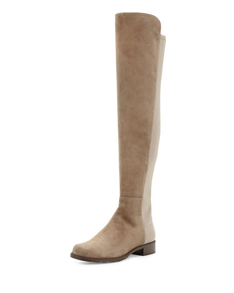 Stuart Weitzman 50/50 Suede Over The Knee Boot