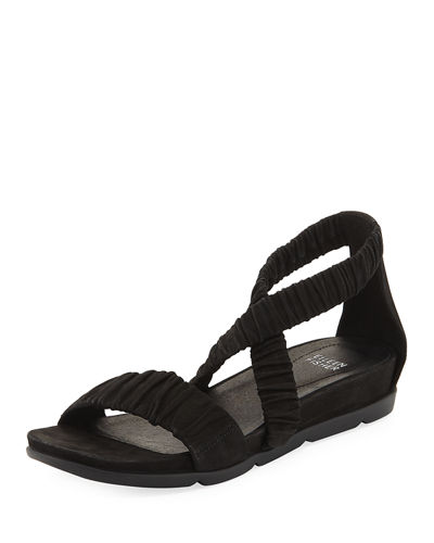 Eileen Fisher Dylan Tumbled Scrunched Sandal